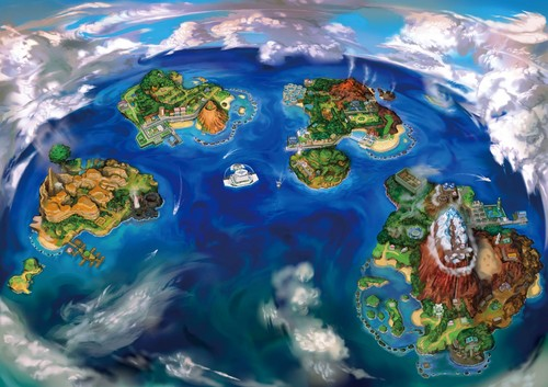 pokemon wallpaper probably with an octopus called Alola region
