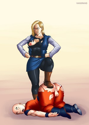 Android 18 and Krillin victory pose VanBrand