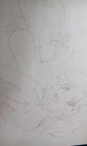 Another Kaori Miyazono drawing