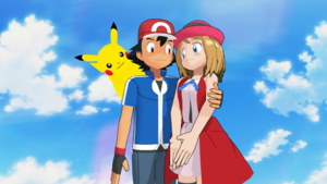 Ash Ketchum and Serena are Together with पिकाचू Pokemon XYZ