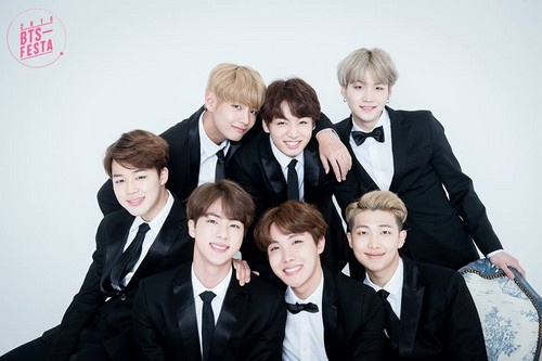 BTS wallpaper with a business suit and a suit entitled BTS FESTA 2016 | Group Photo Album