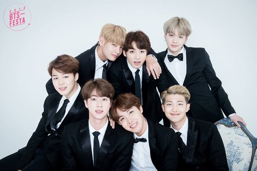BTS wallpaper with a business suit, a suit, and a dress suit titled BTS FESTA 2016 | Group Photo Album