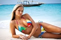 Babe in Colorful Bikini - sex-and-sexuality photo