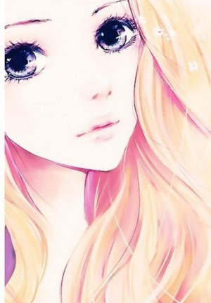 Beautiful blonde anime girl
