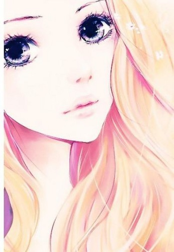 Zufällige Rollenspiele Hintergrund called Beautiful blonde Anime girl