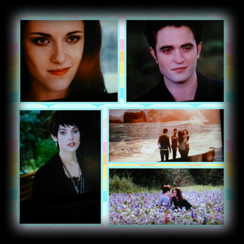 Twilight Series پیپر وال titled Bella Edward and Alice