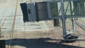Boarding gate at NIA