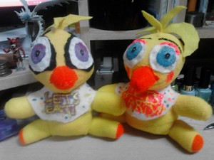 Both Chica Plushies