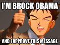 Brock as Barack Obama (Barack Obama) - pokemon fan art