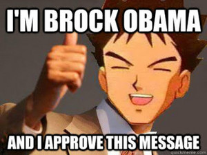Brock as Brock Obama (Barack Obama)