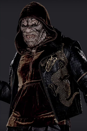 Suicide Squad fondo de pantalla probably with a sobreveste, sobretodo, cota de titled Character Promos - Adewale Akinnuoye-Agbaje as Killer Croc