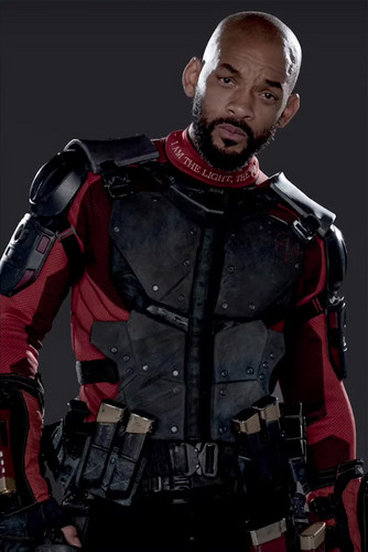 Suicide Squad wallpaper containing a breastplate and an armor plate entitled Character Promos - Will Smith as Deadshot
