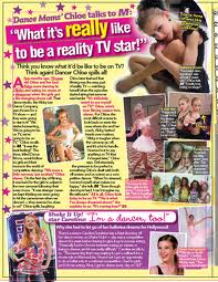 Chloe in M Magazine dance moms