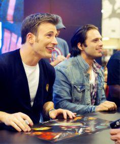 Chris Evans and Sebastian Stan