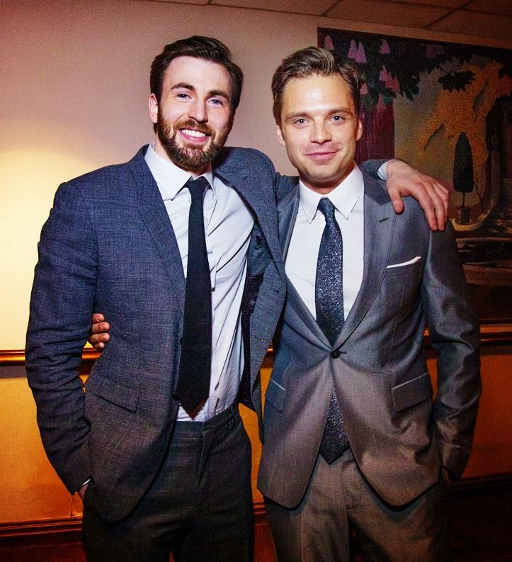 Chris Evans and Sebastian Stan