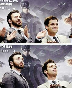 Chris Evans & Sebastian Stan wallpaper possibly with a portrait entitled Chris Evans and Sebastian Stan