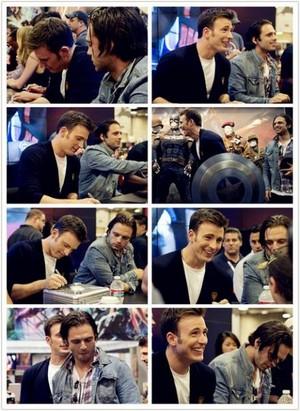 Chris Evans and Sebastian Stan photoset