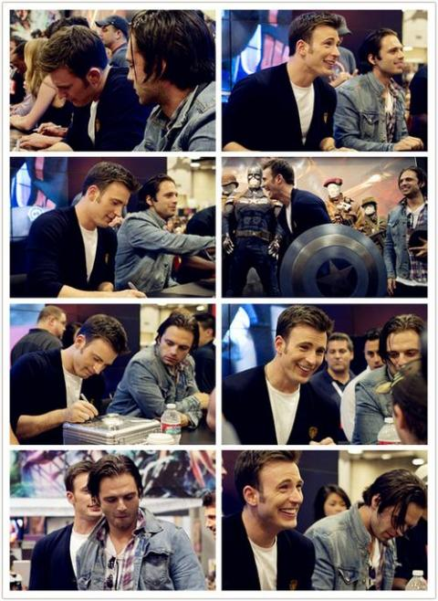 Chris Evans and Sebastian Stan photoset