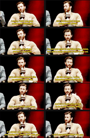 Chris Evans on Sebastian Stan