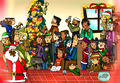 Christmas with the whole cast - total-drama-island fan art