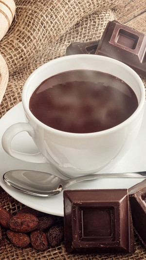 Coffee Cup Spoon Saucer Grain Cioccolato