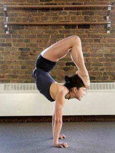Contortion yoga pose