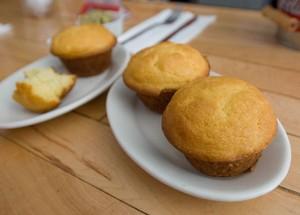 pão de milho Muffins from Hard Knox Cafe