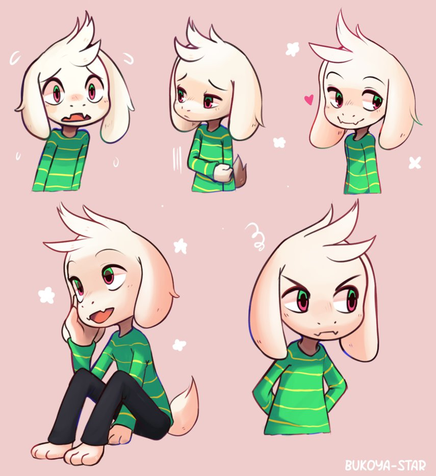 Cute Asriel expressions