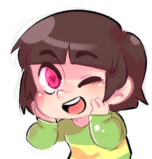 Cute Chara winking
