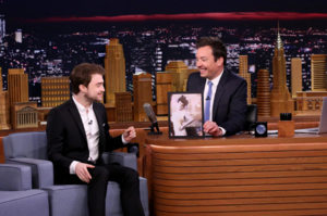 Daniel Radcliffe on Tonight with Jimmy Fallon (Fb.com/DanielJacobRadcliffeFanClub)