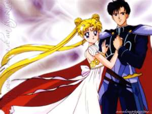Darien and Serena as Prince Darien and Princess Serena 2