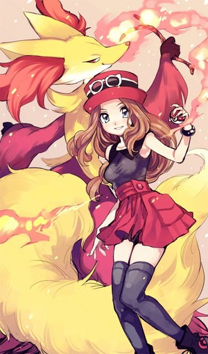 Delphox and Serena <3