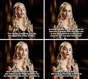 Emilia talking about Dany