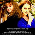 Emma Watson and Hermione Granger - emma-watson fan art
