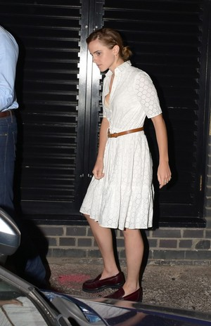Emma Watson leaving the Chiltern Firehouse (June 9) in London