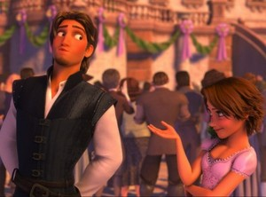 Eugene Hiding Rapunzel's Tiara