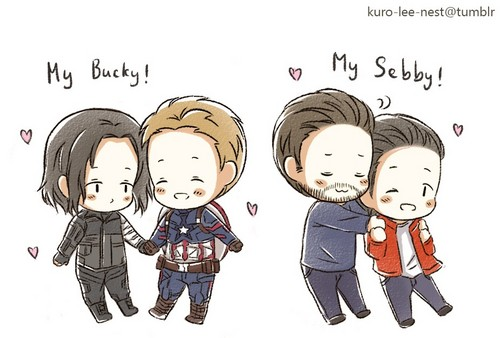 Chris Evans & Sebastian Stan 壁紙 entitled Evanstan and Stucky fanart
