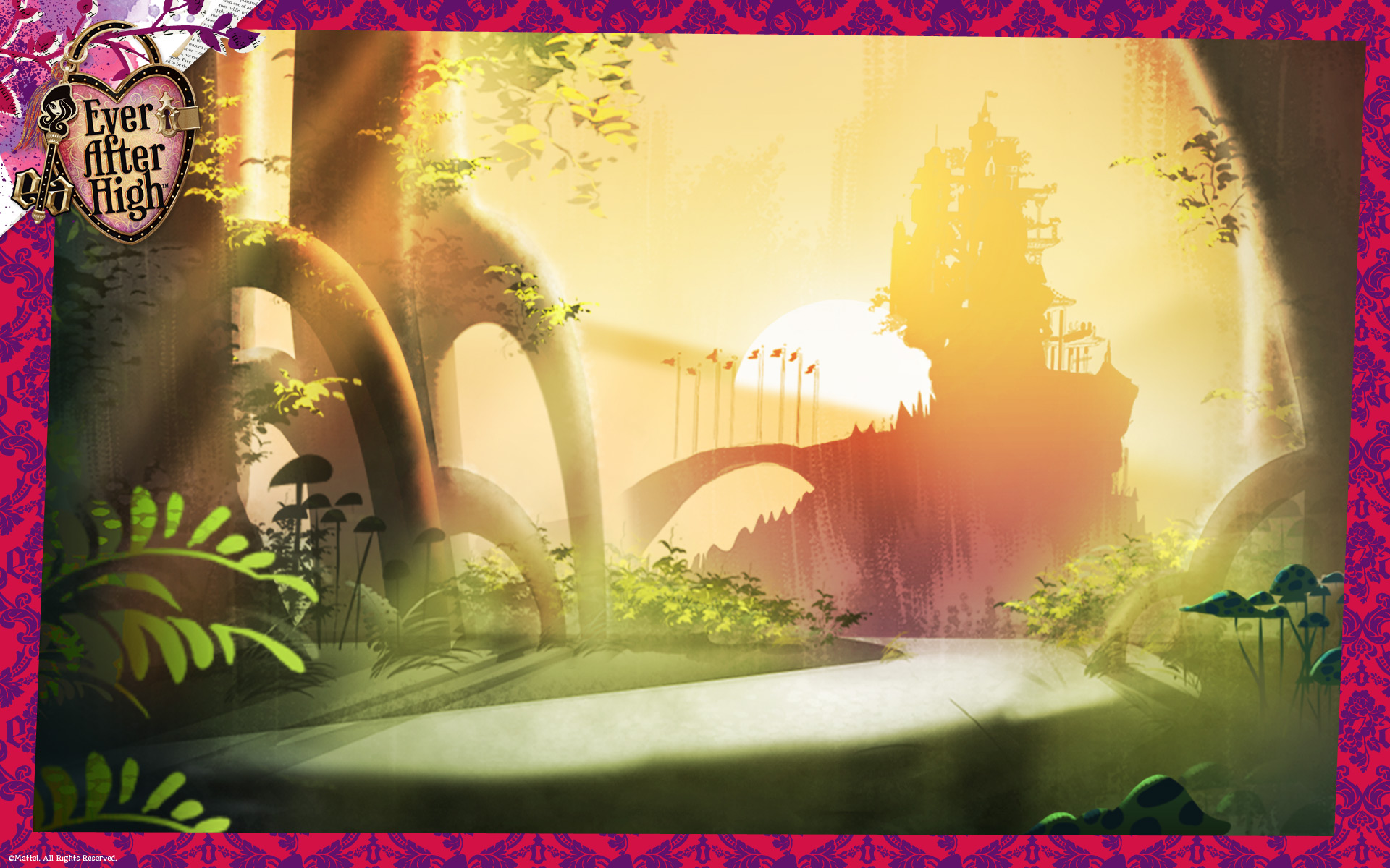 Ever After High Enchanted Forest Wallpaper