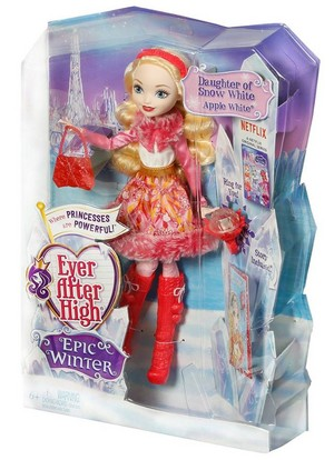 Ever After High Epic Winter táo, apple White doll