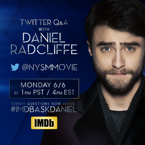 Ex: IMDb to Q/A Daniel Radcliffe, Ask on Twitter (Fb.com/DanielJacobRadcliffeFanClub)