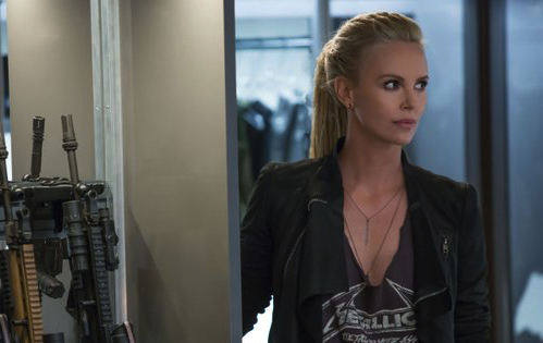 Fast and Furious fond d'écran with a portrait titled First Look at Cipher (Charlize Theron) in Fast 8