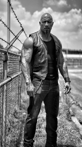 Fast and Furious wallpaper containing a chainlink fence titled First Look at Luke Hobbs (Dwayne Johnson) in Fast 8