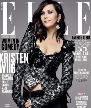 Ghostbusters Ladies on the cover of Elle's Women in Comedy Issue - Kristen Wiig