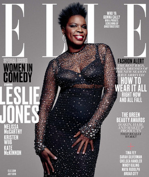 Ghostbusters Ladies on the cover of Elle's Women in Comedy Issue - Leslie Jones