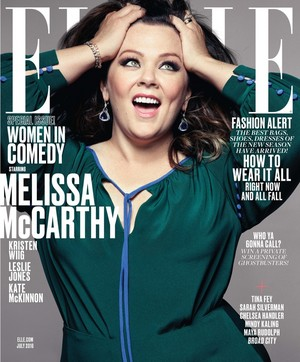 Ghostbusters Ladies on the cover of Elle's Women in Comedy Issue - Melissa McCarthy