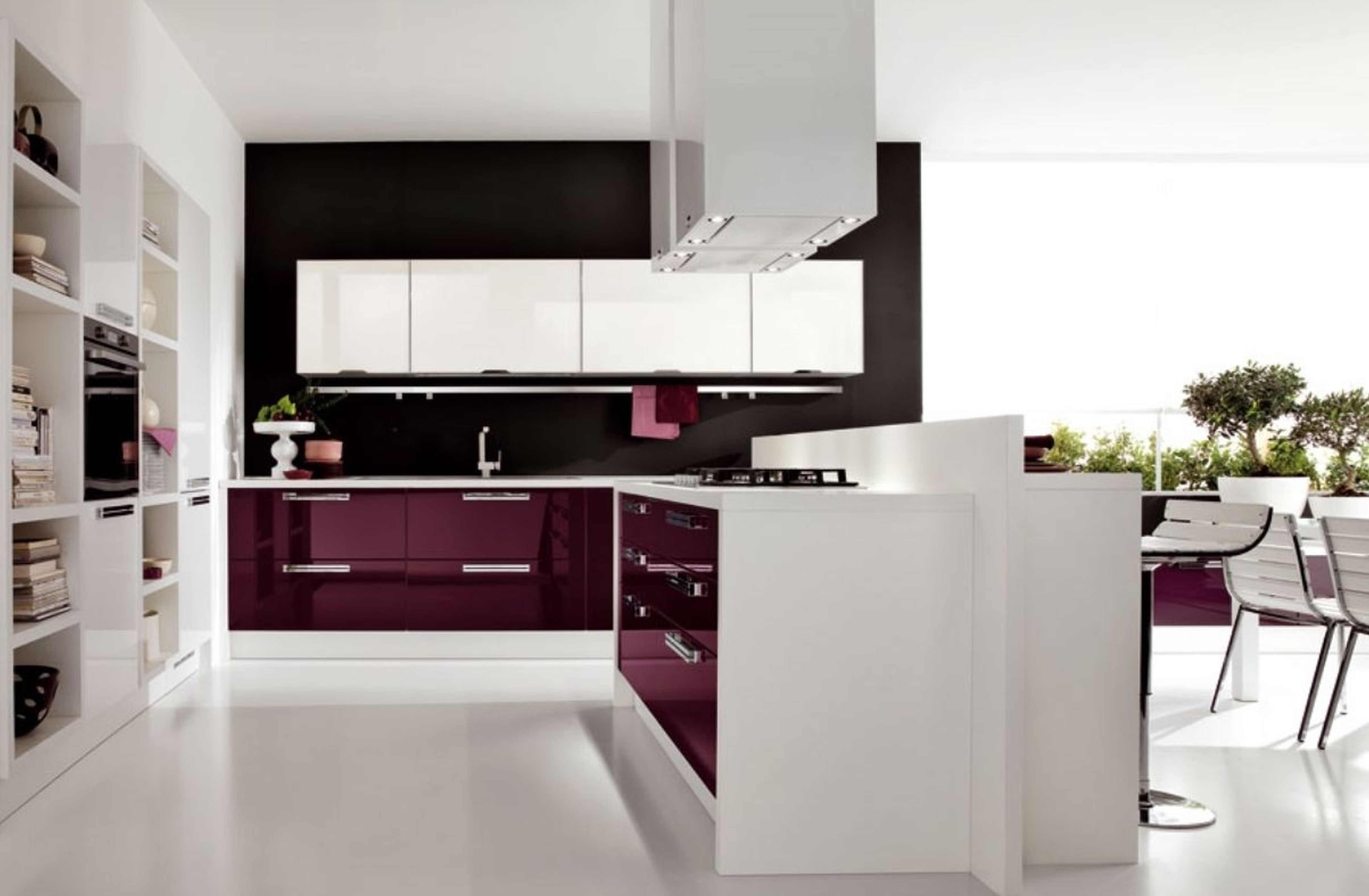 Interior design images good modern kitchen design gallery for Modern kitchen wallpaper ideas