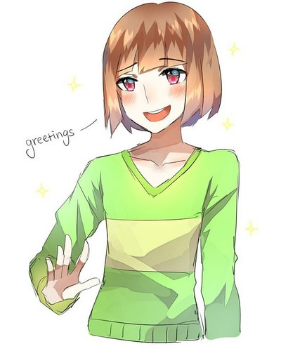undertale वॉलपेपर probably containing ऐनीमे titled Greetings from Chara