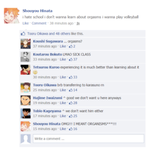 HAIKYUU FACEBOOK POSTS