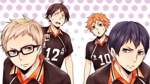 Haikyuu!!(High Kyuu!!) wallpaper possibly containing anime called Haikyuu!! wallpaper