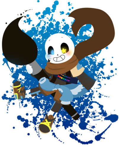 undertale Hintergrund called Ink Sans